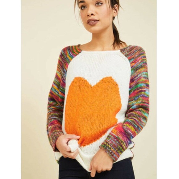 Dreamers Modcloth Think Long And Heart Sweater